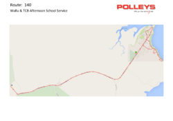 Route 140 – Wallu & TCB Afternoon School Service