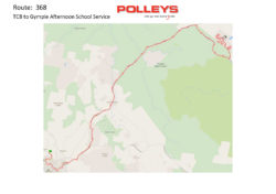 Route 368 – TCB to Gympie Afternoon School Service