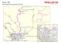 Route 985 – North Deep Creek Morning School Service