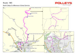 Route 985- North Deep Creek Afternoon School Service