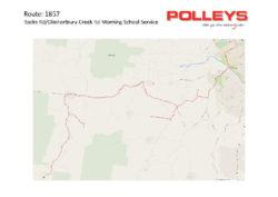 Route 1857 – Rocks Rd/Glastonbury Ck Rd Morning School Service
